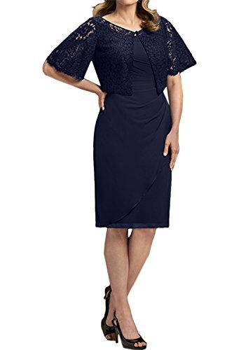 Partykleider Abendkleider Chiffon Kurz Neu Ivydressing Glamour Spitze Navy Damen 2017 Brautmutterkleider Navy w6n48qHv