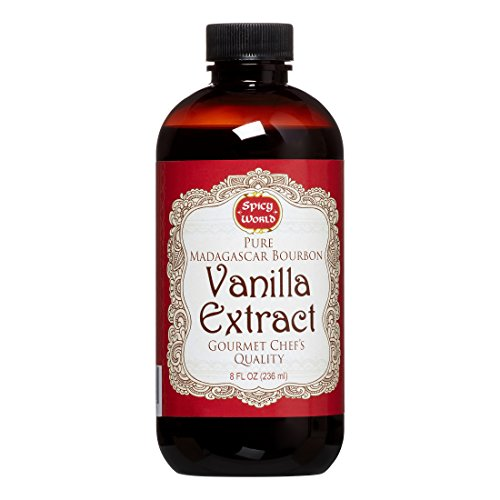 (Spicy World Madagascar Bourbon Pure Vanilla Extract 8 Ounce - One Month Cold Extraction Process! No Heat or Pressure)