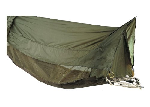 Military Style Jungle Hammock, Shelter with Misquito Netting, OD (Clark Jungle Hammock)