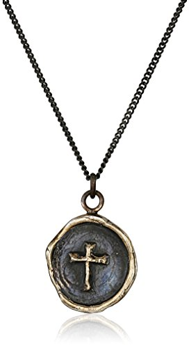 Pyrrha Talisman Bronze Cross Pendant Necklace, 18