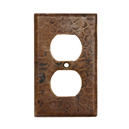 Premier Copper Products SO2 Copper Switch Plate Single Duplex with Two Hole Outlet Cover, Oil Rubbed - Outlets Premier