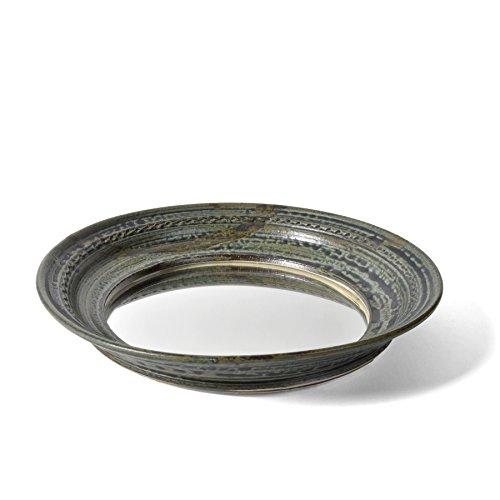 Barrington Mirror (Holman Pottery 9.5-inch Round Vanity Tray Mirror, Desert Glaze)