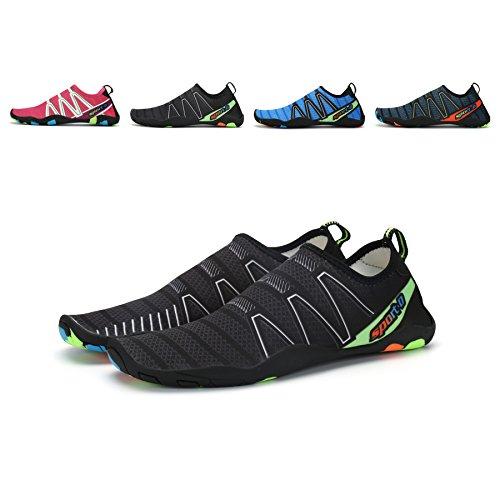 Maniamixx Water Sports Shoes Men Women Barefoot Aqua Shoes Quick-Dry Summer Swimming Beach Shoes for Yoga Swim Surf Beach Running(Black,40EU)