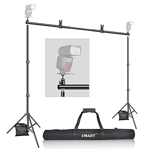 Backdrop Stand, Emart 7x10ft Photo Video Studio Muslin Background Stand Backdrop Support System Kit with Mini Ball Head, Photography Studio - Muslin Support