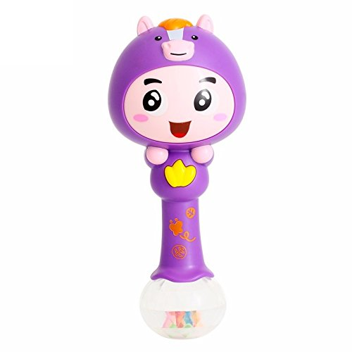 Toyshine Rhythm Stick Rattle with Colorful soft light, Rattling Sound, Assorted
