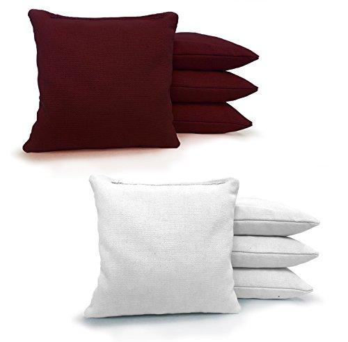 (Johnson Enterprises, LLC 8 Standard Corn Filled Regulation Duck Cloth Cornhole Bags 17 Colors Available (You Pick)!!)