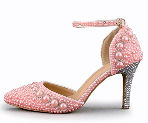 Heel Rose Escarpins 9cm Pink 36 5 MZ8298 MinitooEU Minitoo Femme pour EqR8nx4