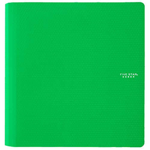 Five Star 2 Inch 3 Ring Binder, Plastic, Green (73302)