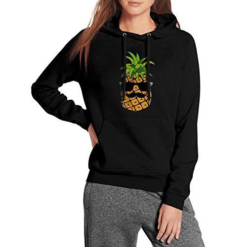 NSH Long Sleeve Fleece Funny Mr Pineapple Summer Womens Pullover Hoodie Sweatshirt -