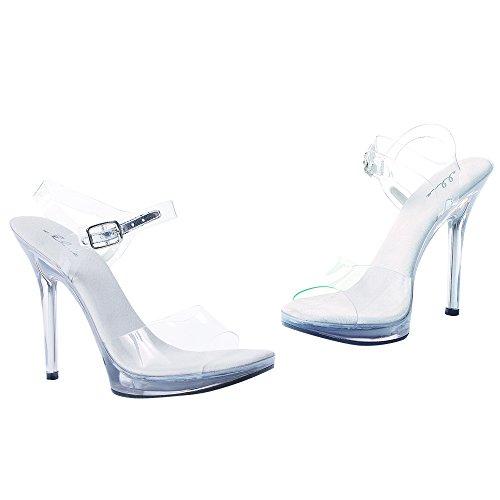 Scarpe Ellie Womens 502 Sandalo Vestito Chiaro Trasparente