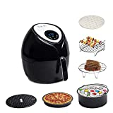 Total Package Air Fryer, 8-in-1 Digital Screen, with Endless Recipes, and Deluxe Accessory Kit by Yedi Houseware