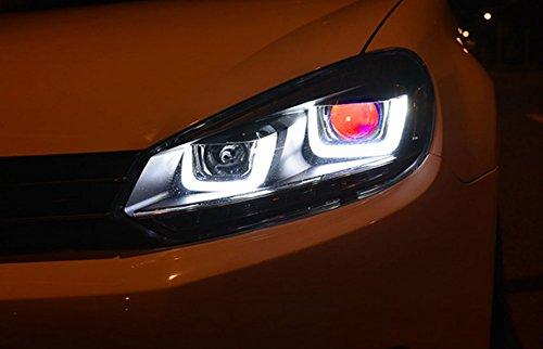 GOWE Car Styling ForVW Golf 6 Headlights 2010-2013 Golf6 mk6 LED Headlight Angel Eye LED DRL Bi Xenon Lens Parking Fog Lamp Color Temperature:8000k;Wattage:35w 3