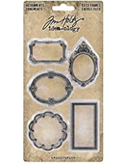 Tim Holtz, Advantus TH93792 Adornments Deco Frames Decorative Ornaments, silver