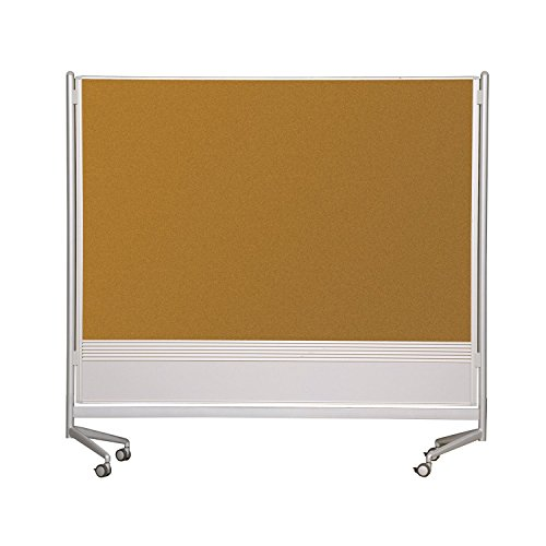 (Balt Mobile Double Sided Dura-Rite HPL Markerboard Natural Cork DOC Room Partition 6'H x 4'W electronic consumers)