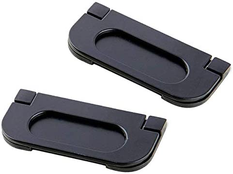 CN-Culture 2 Unidades de Tirador de Puerta de aleación para Puertas de Bolsillo, Color Negro, Resistente al óxido para Puertas correderas, armarios, cajones: Amazon.es: Hogar
