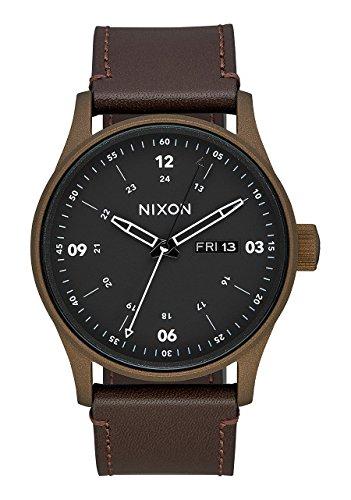 Nixon Sentry Leather Watch Bronze Cerakote Brown by NIXON (Image #3)'
