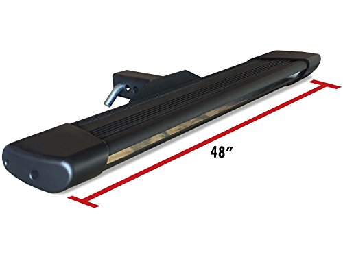 Broadfeet Heavy Duty R66 Black Hitch Step 6″ Flat 48″ Long For 2″ Receiver