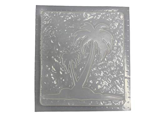 Palm Tree Plaque Concrete or Plaster Mold 7106 ()