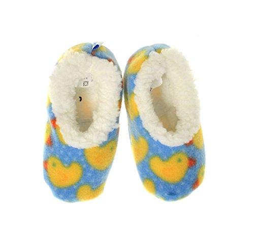 Kuschel-Hausschuhe Baby Snoozies Baby-Hausschuhe (L, Ducks)