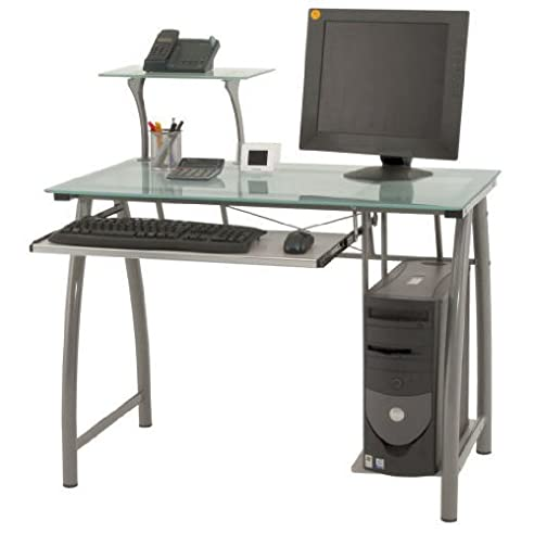 Computertisch glas  Glas Computertisch, PC-Tisch, Schreibtisch: Amazon.de: Küche ...