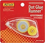 Bulk Buy: Ad-Tech Repositionable Dot Glue Runner Disposable .25''X196'' 05628 (4-Pack)