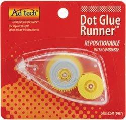 Repositionable Dot Runner - Bulk Buy: Ad-Tech Repositionable Dot Glue Runner Disposable .25