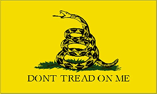 Rogue River Tactical Patriotic Gadsden Flag Don't Tread On Me Auto Decal Bumper Sticker 5x3