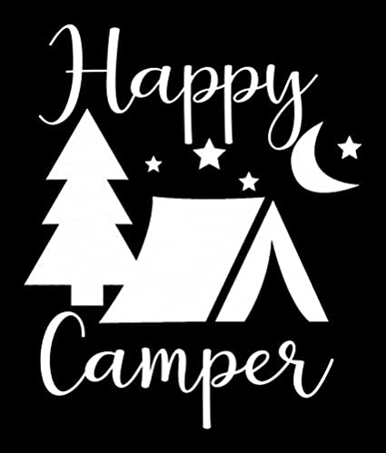 6006f79fb0 Amazon.com  CCI Happy Camper Tent Trees Stary Night Decal Vinyl  Sticker