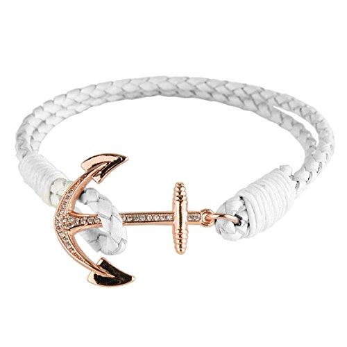 Vintage Hand Made Woven Bracelet (White) - 8