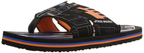 Stride Rite Star Wars Sandal (Toddler/Little Kid), Black/Orange, 13 M US Little (Orange Kids Sandals)