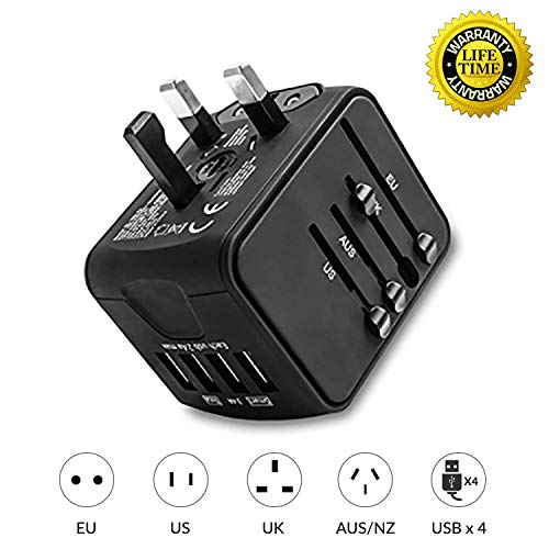 Unidapt Easy to Travel Universal Travel Power Adapter Power Charger AC Wall Plug Adapter (MS-G08) ()