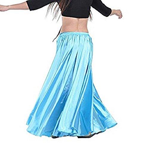 Raso Danza Ventre Del Calcifer In Blu Donna Da Costumi Lunga Gonna Per Lago Professioniste Danzatrici E T0qFwBw