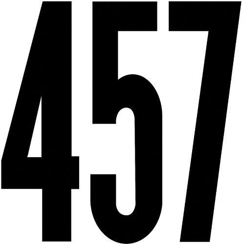 "Duro Decal Permanent Adhesive Vinyl Numbers: 6"" Gothic Black"