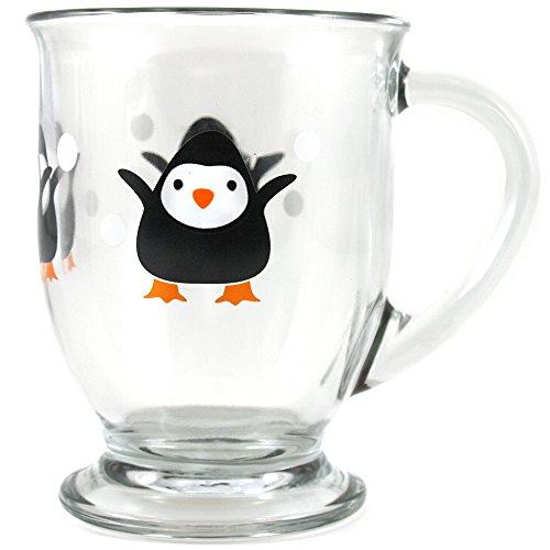 Anchor Hocking Holiday Penguin Cafe Mug, Set of 6
