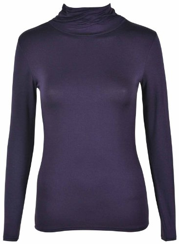 manches stretch Pourpre pour Femmes Hanger longues polo Purple uni Sweat awfYqA