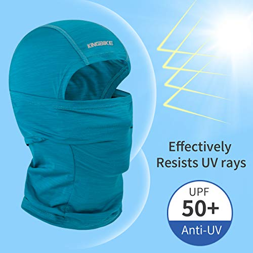 Blue KINGBIKE Balaclava Sun Face Mask Shield Cover Neck Gaiter Summer UV Protection Cooling Lightweight Breathable Multifunction Masks for Motorcycle Riding Fishing Cycling Running Men Women Youth