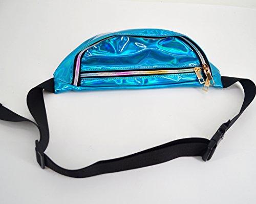Raves Bum Pack Hologram Women's Purse Blue Waist Festivals Pvc Aisi Fanny Bag 4nzYZ