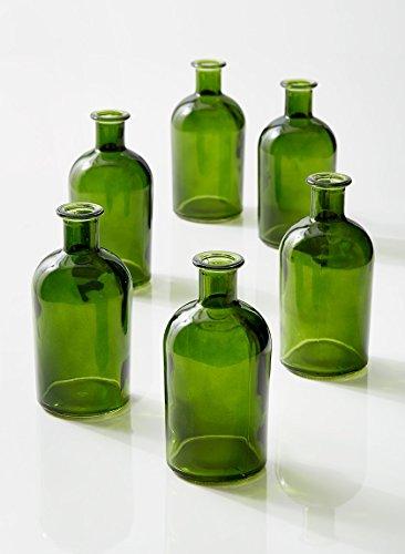Bottle Bud Vase, Set of 6 (Colored Bud Vases)
