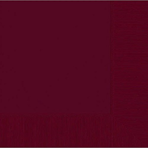 Berry Red 2-Ply Luncheon Napkins | Pack of 50 | Party Supply (Paper Burgundy Napkins)