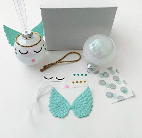 Make Your Own Angel Ornament Kit DIY Holiday Gift Blue Boys from HappyPeople