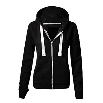 womens ladies plain malaika hoodie long sleeve hooded zip. Black Bedroom Furniture Sets. Home Design Ideas