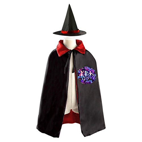 [Kids Wizard Witch Costume Set Futurama Philip J.Fry Cosplay Party Reversible Cape With Hat] (Fry Futurama Costumes)