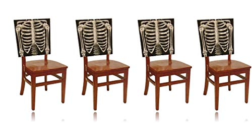 Halloween Chair Covers Set of 4 Skeleton Chair Covers - Halloween Decor