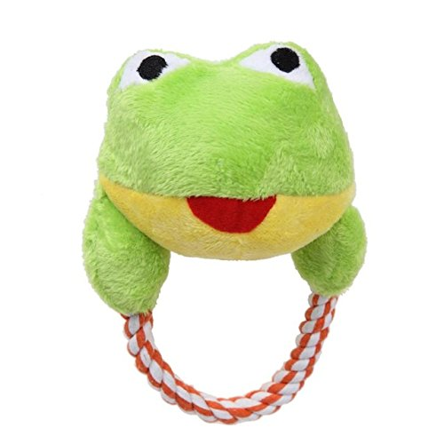 Cacys-Store - Pet Dog Toys Puppy Cotton Rope Chew Toy Christmas Snowman Cartoon Animal Shape Squeaker Toy Pet Interactive Training ()