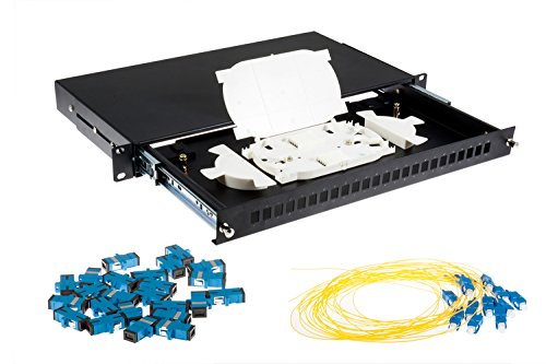 24 Port SC Single-Mode OS2 Fiber Patch Panel Bundle, ()