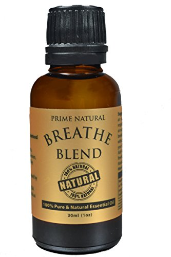 Breathe Essential Oil Blend 30ml / 1oz - 100% Natural Pure & Undiluted Best for Aromatherapy & Scents - Sinus Relief, Allergy Relief, Congestion Relief, Cold, Cough, Headache & Respiratory Problems