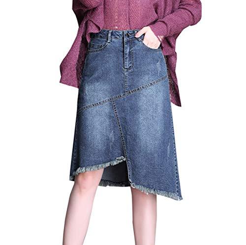 Jeans Borla Falda Vintage Cintura Alta Verano Falda De Vaquero ...