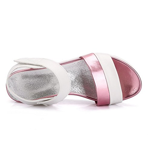 Amoonyfashion Gonnellino Da Donna Color Ganci Assortiti Colore Rosa Con Gancetto Open Toe