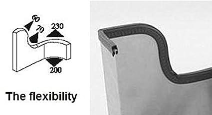 Petite ampoule de porte bande en caoutchouc 9//40,6/cm Ampoule Diam/ètre x 0,1/cm 9//162,6/cm x 35//162,6/cm U Hauteur