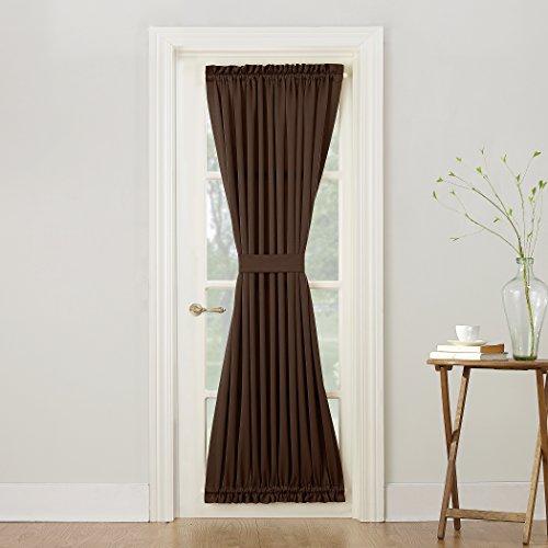 brown door curtain panel - 1